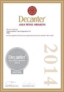 Decanter Asia Wine Award 2011